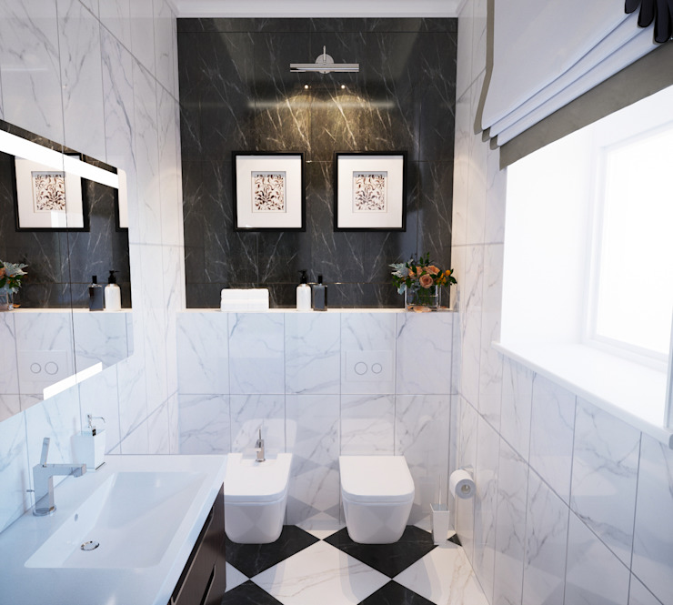 Insight Vision GmbH Classic style bathrooms Marble White