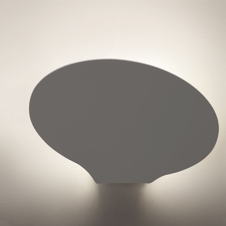 Glu applique Pellegrini+Mengato Ingresso, Corridoio & Scale in stile moderno Alluminio / Zinco Bianco