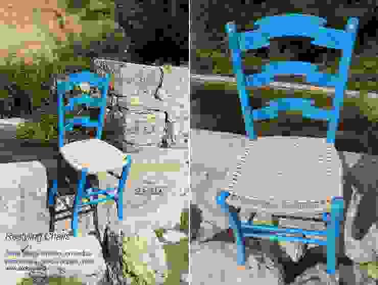 Restyling sedia: intrecciata a mano. di Studio SerEla Moderno