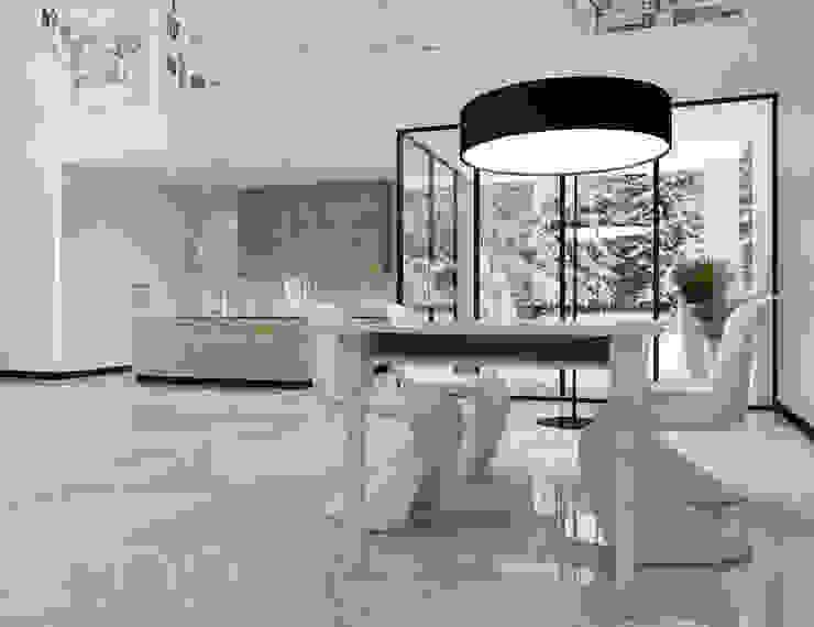 Cozinhas modernas por UTOO-Pracownia Architektury Wnętrz i Krajobrazu Moderno