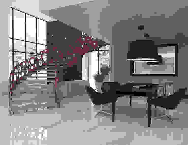 Modern Study Room and Home Office by UTOO-Pracownia Architektury Wnętrz i Krajobrazu Modern