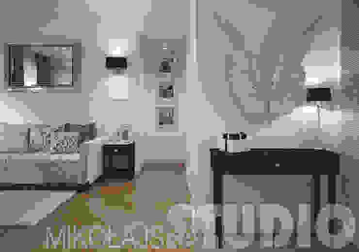 salon w stylu glamour - projekt wnętrz od MIKOŁAJSKAstudio