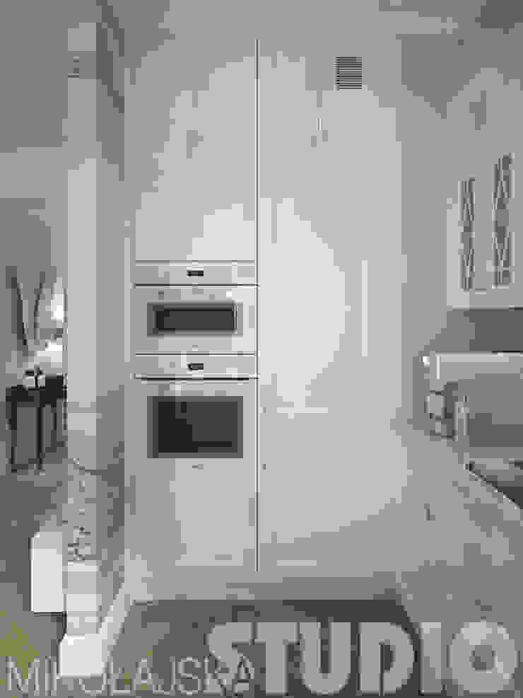projekt kuchni w stylu glamour od MIKOŁAJSKAstudio