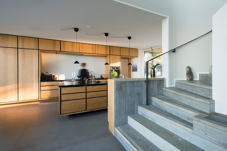 Villa U Scandinavian style kitchen by C.F. Møller Architects Scandinavian Wood Wood effect