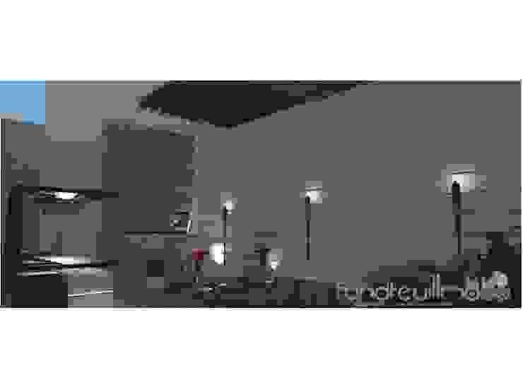 PROPUESTA DE ARQUITECTURA REMODELACION DE ESPACIO SOCIAL DE VIVIENDA UNIFAMILIAR RAVM Arquitecto Balcones y terrazas de estilo minimalista
