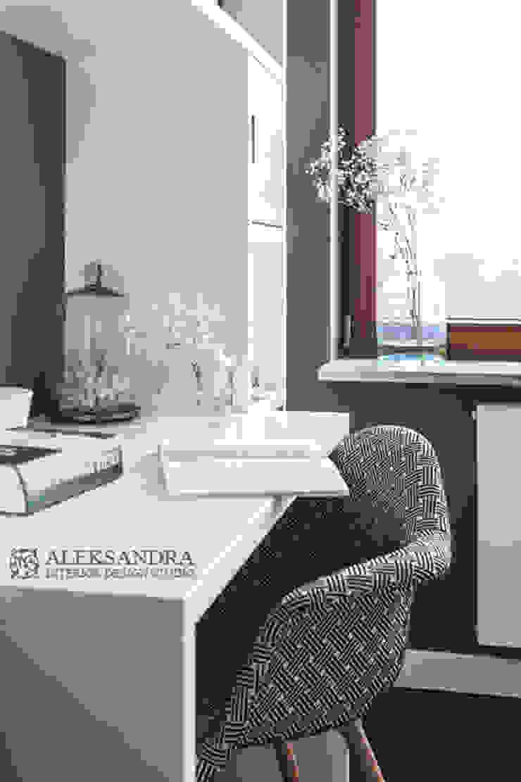 gabinet Eklektyczne domowe biuro i gabinet od ALEKSANDRA interior design studio Eklektyczny