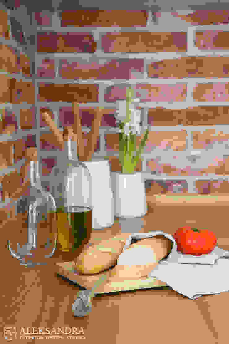 Apartament we Wrocławiu Eklektyczna kuchnia od ALEKSANDRA interior design studio Eklektyczny