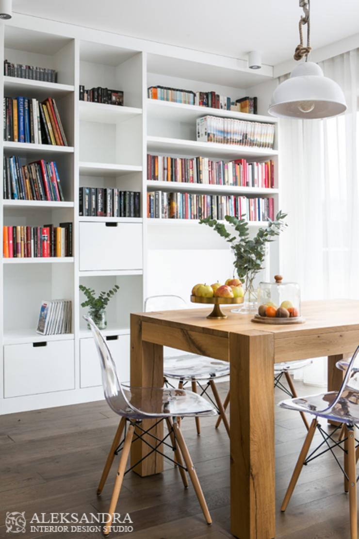 jadalnia Eklektyczna jadalnia od ALEKSANDRA interior design studio Eklektyczny