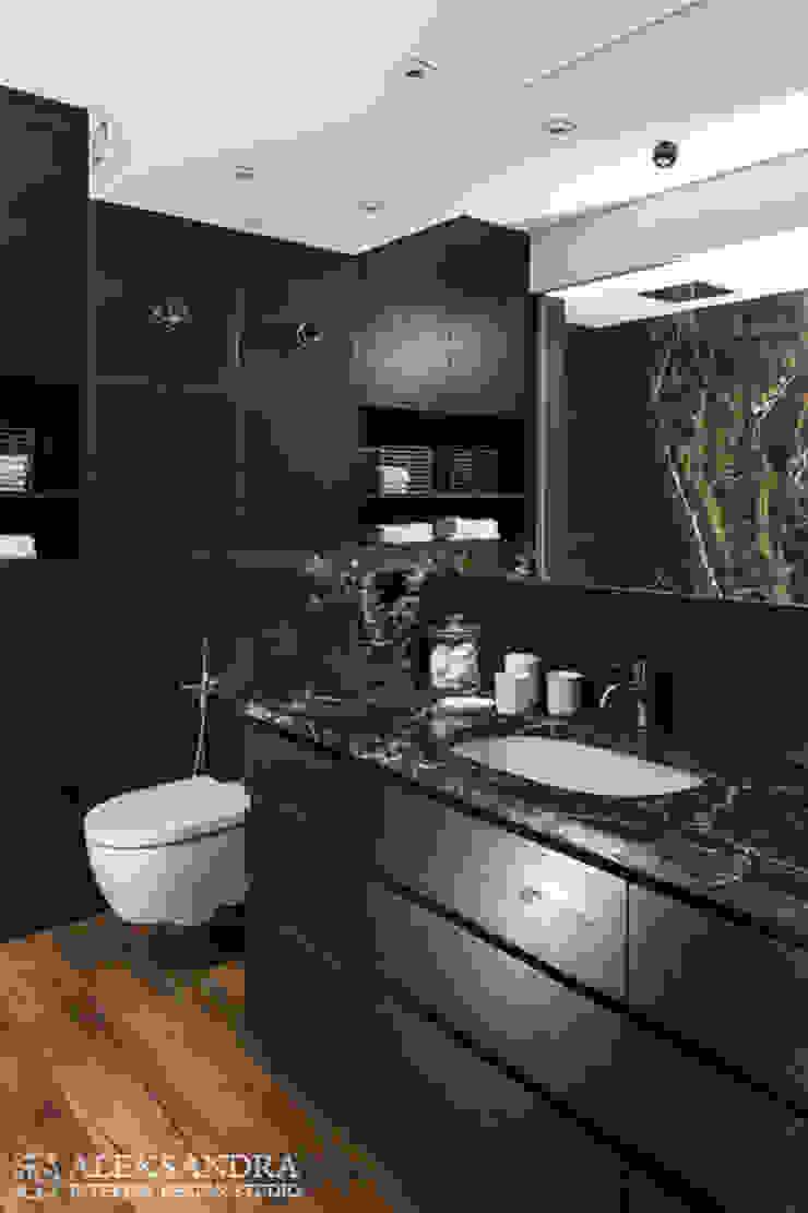 łazienka Eklektyczna łazienka od ALEKSANDRA interior design studio Eklektyczny