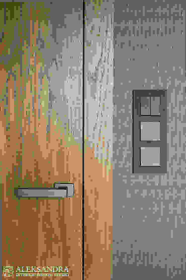 Apartament we Wrocławiu Eklektyczna sypialnia od ALEKSANDRA interior design studio Eklektyczny