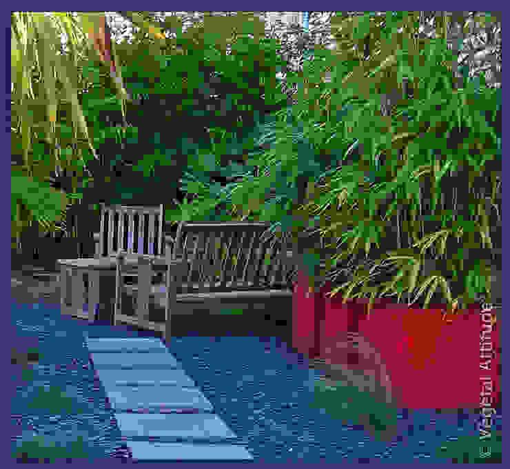 Jardines modernos de Végétal Attitude Moderno