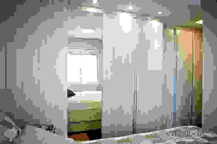 Apartamento – pequenos espaço Quartos modernos por NATALIA ELLWANGER ARQUITETUTA Moderno MDF