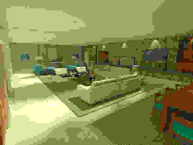 Living da Casa de Praia Salas de estar modernas por Rangel & Bonicelli Design de Interiores Bioenergético Moderno
