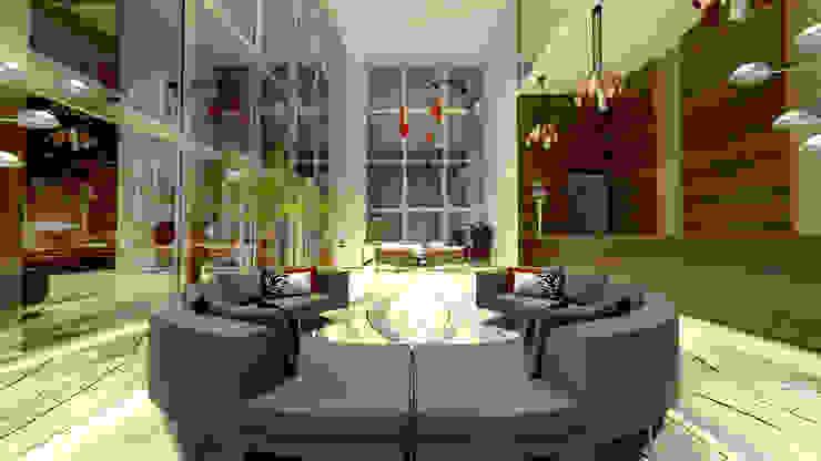 O Lobby do Hotel Hotéis modernos por Rangel & Bonicelli Design de Interiores Bioenergético Moderno