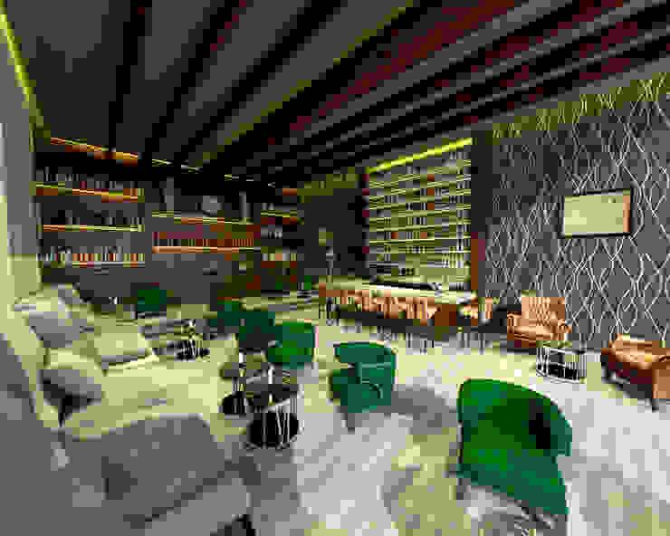 O Bar do Hotel Hotéis modernos por Rangel & Bonicelli Design de Interiores Bioenergético Moderno