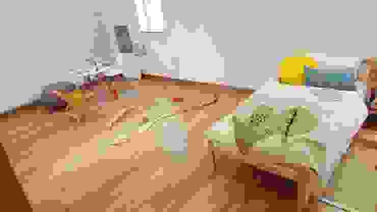 モダンデザインの 子供部屋 の 루트 주택 モダン