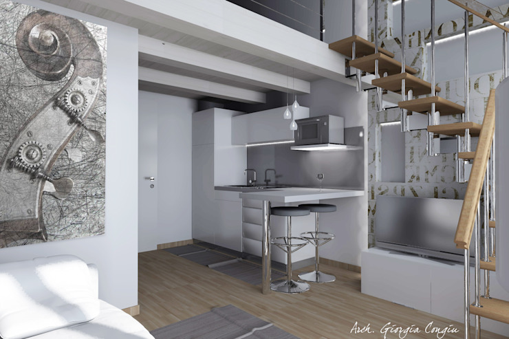 Cocinas modernas de Arch. Giorgia Congiu Moderno