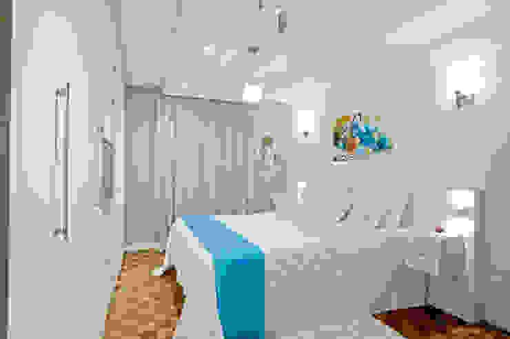 Projekty,  Sypialnia zaprojektowane przez Patrícia Azoni Arquitetura + Arte & Design, Eklektyczny