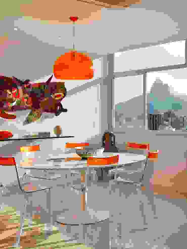 Apartamento Ipanema 2 Salas de jantar modernas por Carlos Salles Arquitetura e Interiores Moderno