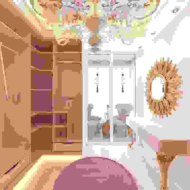 Студия дизайна интерьера Руслана и Марии Грин Ruang Ganti Modern Beige