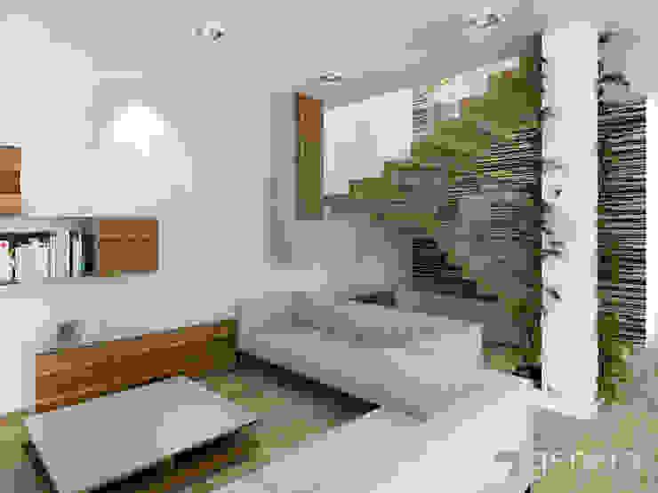 Dom pod Poznaniem Nowoczesny korytarz, przedpokój i schody od GENERO Nowoczesny