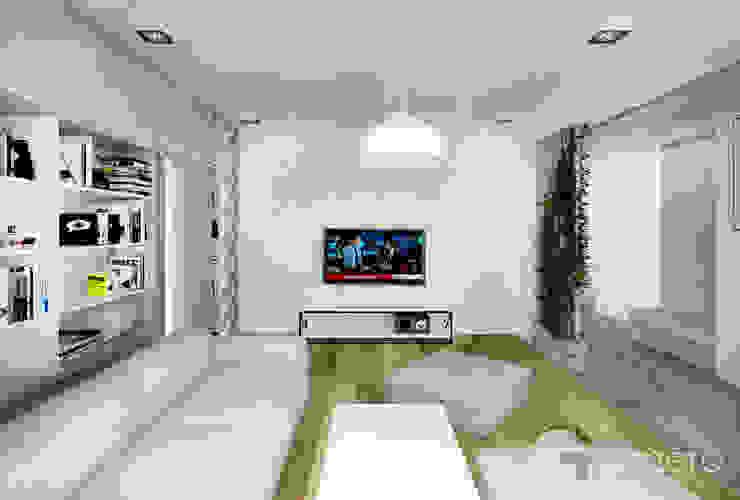 Mieszkanie, Poznań Nowoczesny salon od GENERO Nowoczesny