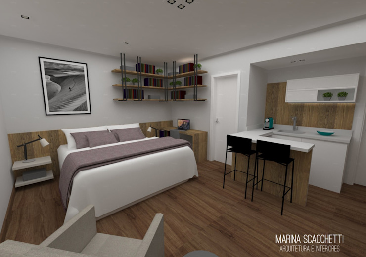 Modern style bedroom by Marina Scacchetti Arquitetura e Interiores Modern