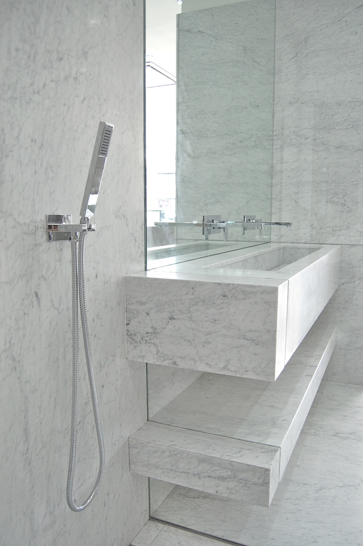 Carrara Marble Shower Room Homify