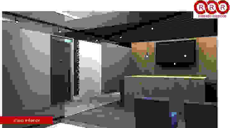 Recepción Edificios de oficinas de estilo industrial de Tres-r Industrial