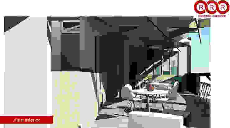 Cafetería Edificios de oficinas de estilo industrial de Tres-r Industrial