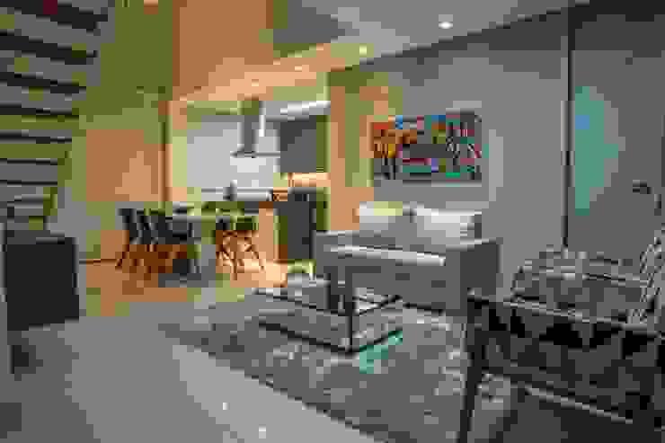 Apartamento Ferreira Salas de estar modernas por Laura Lage Arquitetura e Design Moderno