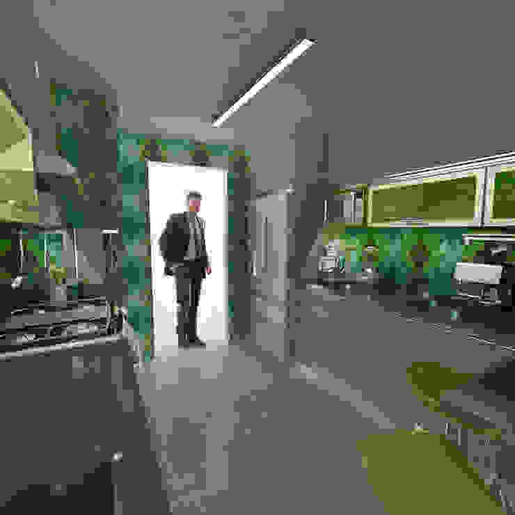 Remodelación Cocina MMP OPFA Diseños y Arquitectura Cocinas de estilo moderno Tablero DM Multicolor