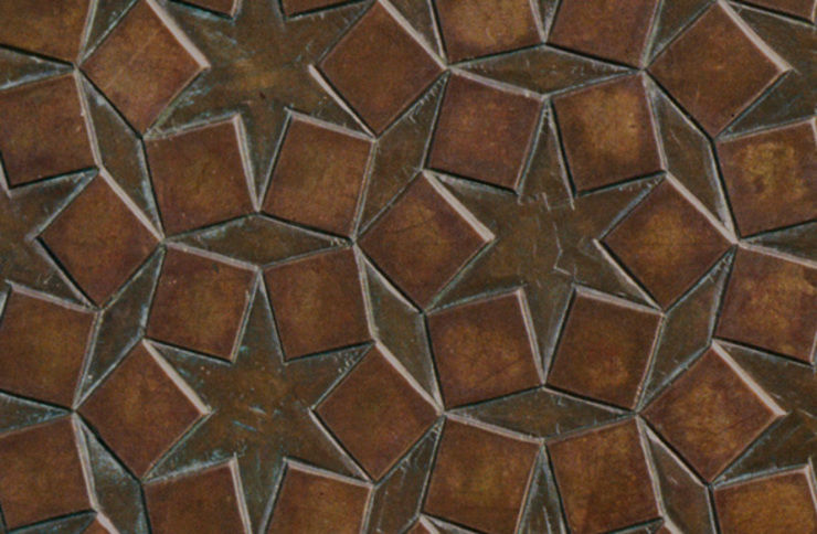 Star Embossed and bronzed briquette - Patinated Copper with hints of verdigris Eclectic style conservatory by De Ferranti Eclectic