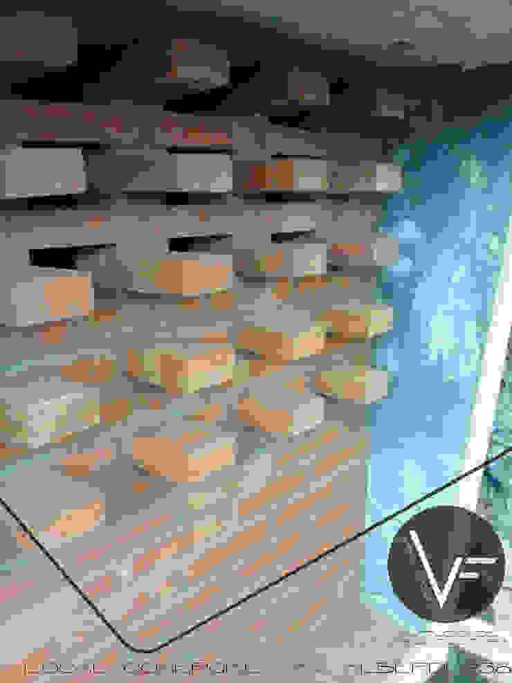 VF ESTUDIO Przestrzenie biurowe i magazynowe Cegły