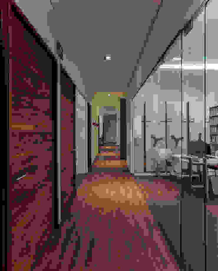 Moderner Flur, Diele & Treppenhaus von Serrano Monjaraz Arquitectos Modern