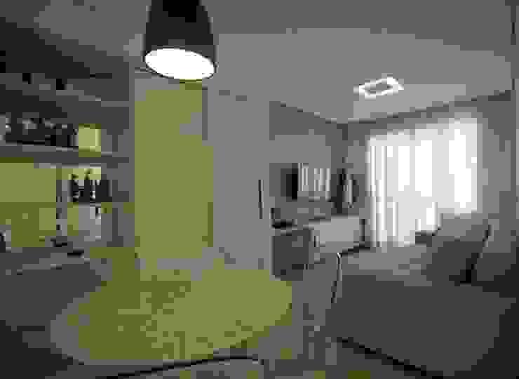 Sala integrada Salas de jantar modernas por Studio Santoro Arquitetura Moderno