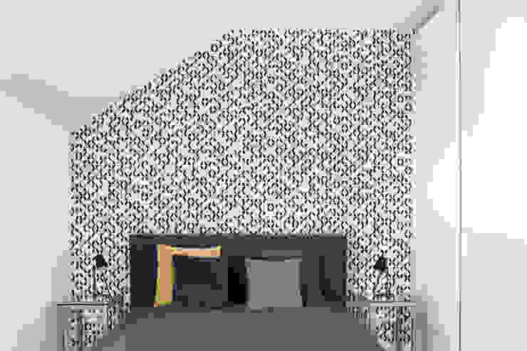 Mieszkanie Tychy Nowoczesna sypialnia od Joanna Kubieniec Nowoczesny