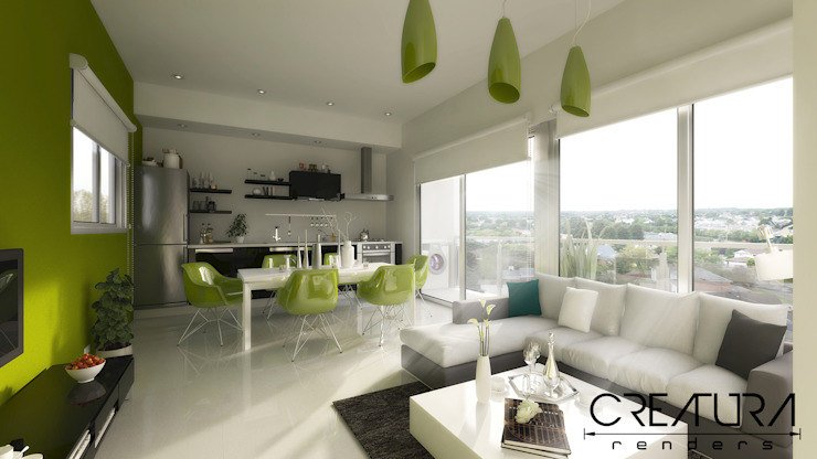 Modern living room by Creatura Renders Modern