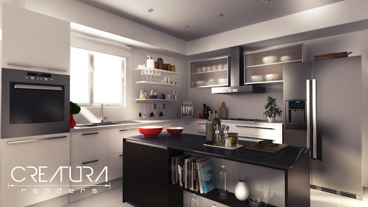 Modern kitchen by Creatura Renders Modern