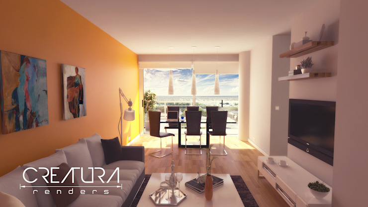 Classic style living room by Creatura Renders Classic