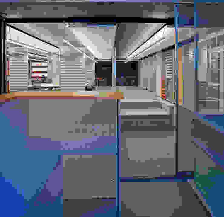Showroom Hunter Douglas Estudios y despachos modernos de Serrano Monjaraz Arquitectos Moderno