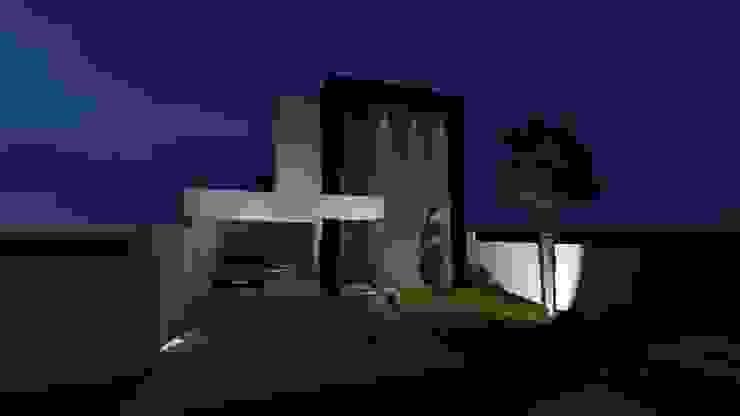 Vista noturna Casas modernas por Caroline Argenta e Elisangela Chioca Moderno Concreto