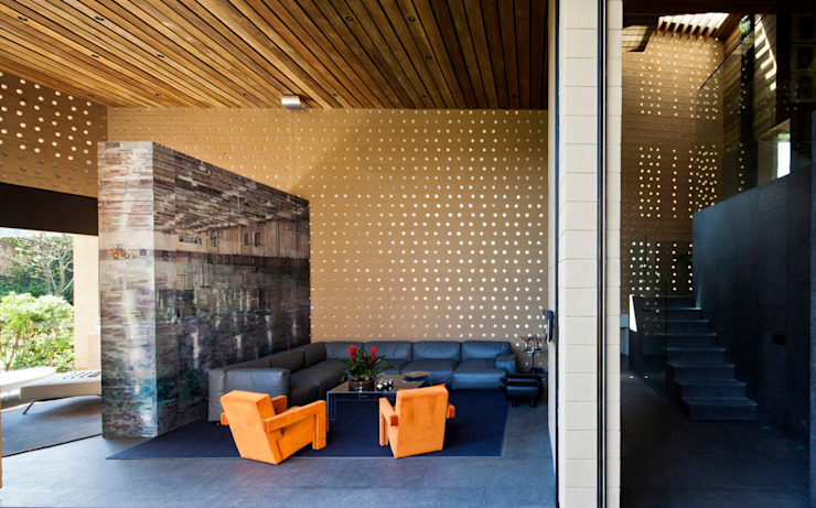 Salas modernas de Serrano Monjaraz Arquitectos Moderno
