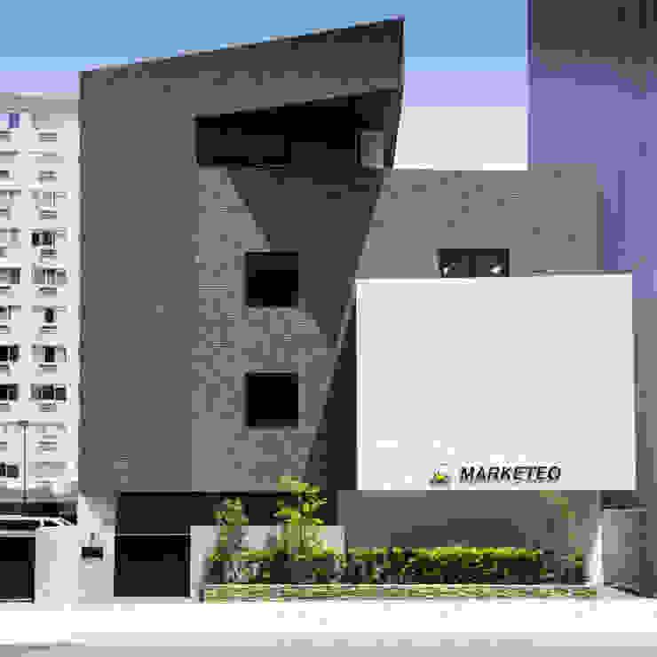 一級建築士事務所アールタイプ Edificios de oficinas de estilo moderno Ladrillos Marrón