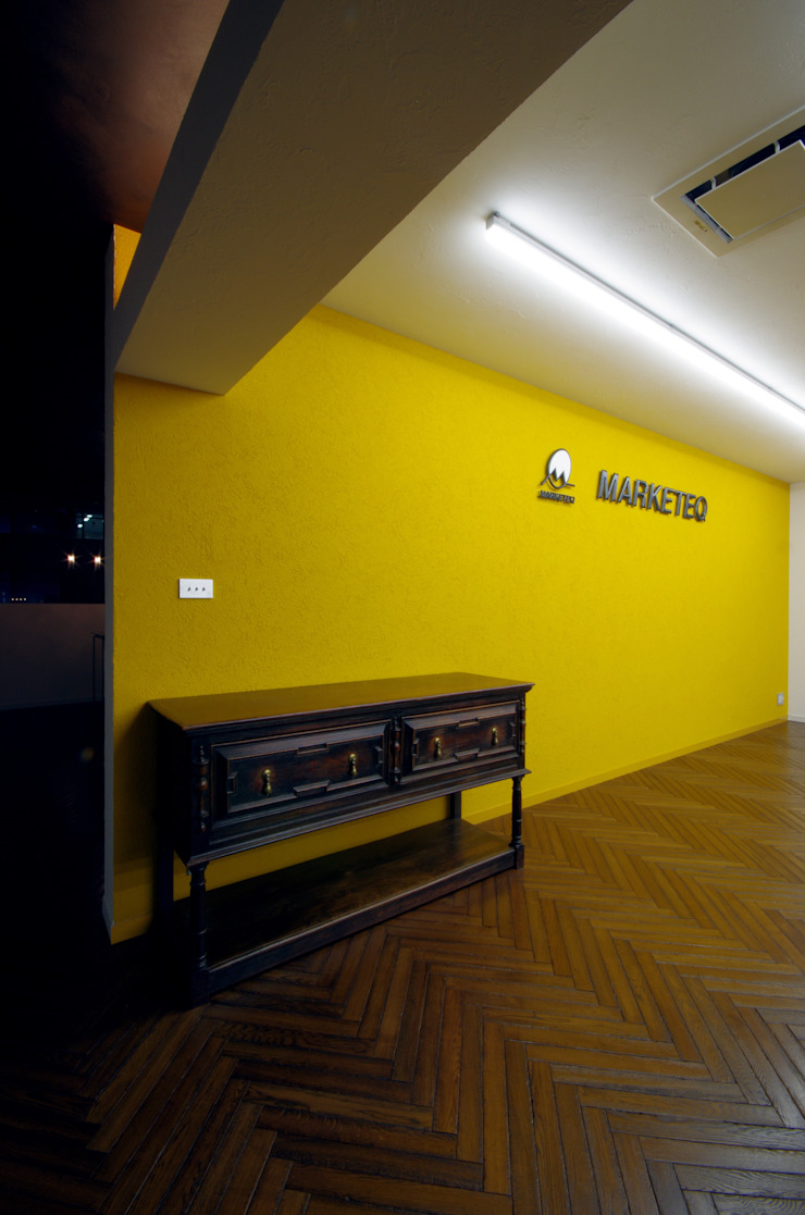 一級建築士事務所アールタイプ Edificios de oficinas de estilo moderno Amarillo
