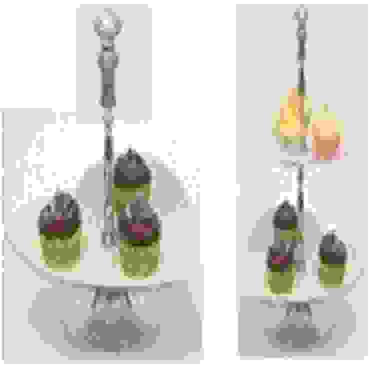 Aluminium Two Tier Heart Cake Stand: asian  by Alyth Creations,Asian Aluminium/Zinc