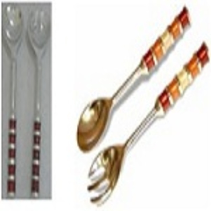 Salad Servers Set Stripes: asian  by Alyth Creations,Asian