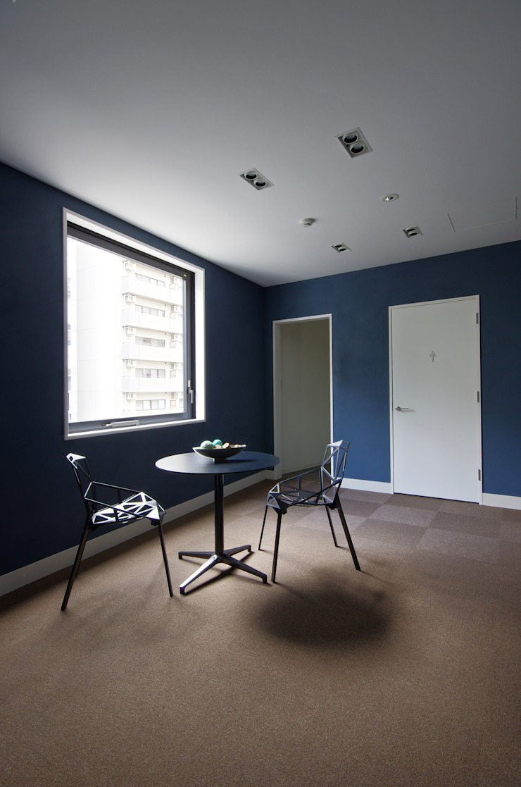 一級建築士事務所アールタイプ Edificios de oficinas de estilo moderno Azul
