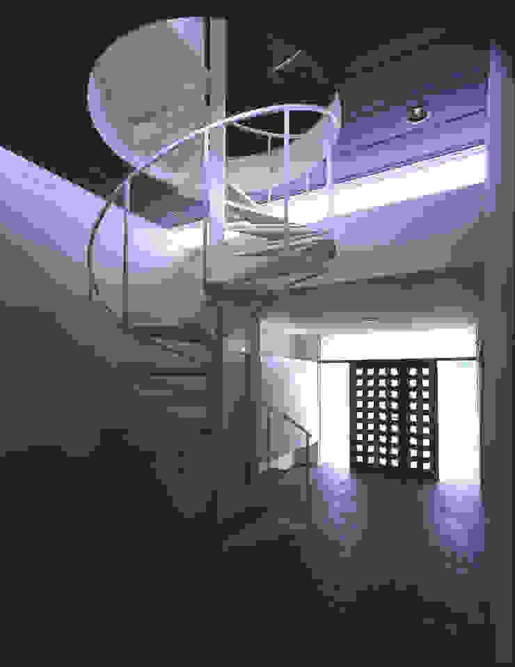 Modern Corridor, Hallway and Staircase by 株式会社長野聖二建築設計處 Modern