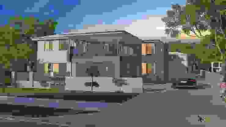 Classic Exterior 3D Home Design: modern  by Yantram Architectural Design Studio, Modern